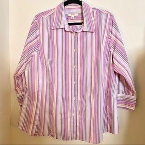 Merona Purple Stripe Button Down